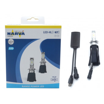 Лампа автомобильная h7 led 6000k (к.уп.2 шт.) Range power LED Narva 18005