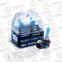 Лампа Avantech NIGHT FIGHTER H16 12V 19W (30W) 5000K (ярко-белый свет) 2шт AB5016