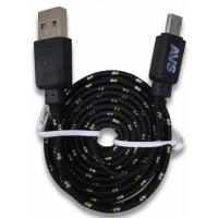 Кабель micro USB AVS 1м. MR-321 плоский текстиль A78607S