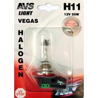 Лампа галогенная AVS Vegas в блистере H11 12V 55W 1шт. A78150S