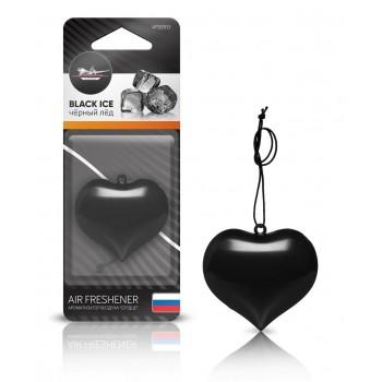 """Ароматизатор подвесной AIRLINE пластик """"Сердце"""" черный лед AFSE003"""