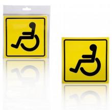 """Знак """"Инвалид"""" AIRLINE ГОСТ, наружный, самоклеящийся (150*150 мм) 1шт. AZN09"""