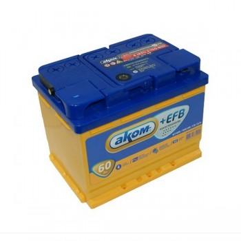 Аккумулятор Аком EFB 60А/ч-12V ст EN560