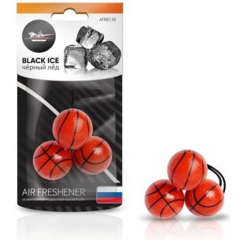 Ароматизатор подвесной Баскетбол черный лед AFBB130