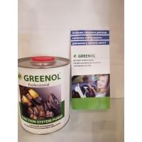 Промывка системы питания бензинового двигателя  GREENOL 1 литр Injection System Purge
