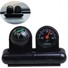 2-в-1Автомобильный термометр + компас
