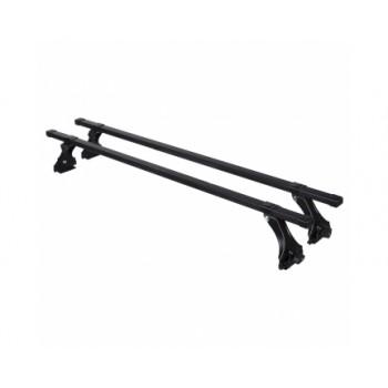 Багажник DELTA Нива 2121, ГАЗ, Москвич (черный, пластик) рейка 1,4м.  D-010-114/ч