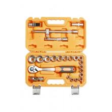 Набор головок и принадлежностей ½ дюйма 24 предмета, пласт.кейс AT-24-02