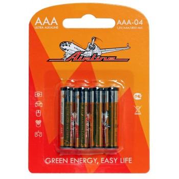 Батарейки LR03/AAA щелочные 4 шт AAA-04