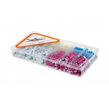 Набор автомобильных предохранителей цилиндрических в пластиковой коробке 360 штук AFU-V-P360