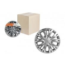 Колпаки колесные 13 дюймов Лион серебристый, карбон 2шт AWCC-13-01