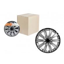 Колпаки колесные 13 дюймов Торнадо +, серебристо-черный, карбон 2шт AWCC-13-07