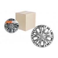 Колпаки колесные 14 дюймов Лион, серебристый, карбон 2шт . AWCC-14-01