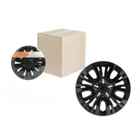 Колпаки колесные 14 дюймов Лион, черный глянец, карбон 2шт. AWCC-14-04