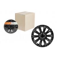 Колпаки колесные 14 дюймов Торнадо, черный глянец, карбон 2шт AWCC-14-09