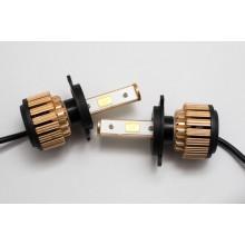 LED лампы головного света G6 (встроенный радиатор с вентилятором) 12V компл.