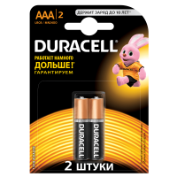Батарейки DURACELL Basic AAA алкалиновые 1.5V LR03 2 шт. 81528141