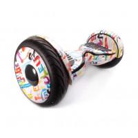 Гироскутер Smart Balance Wheel 10.5 граффити белый с приложением самобаланс