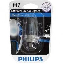 Лампа галогенная Philips H7 (55W) PX26d BlueVision Ultra 12V 12972BVU BW