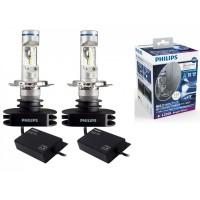Комплект светодиодных ламп головного света Philips LED H4 X-treme Ultinon 6200K, 12953BWX2