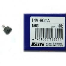 Лампа KOITO 14V 80mA T4,2 1шт. 1563