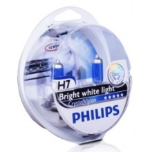 Галогеновая лампа Philips H7 CrystalVision 55 Вт 12972CVSM