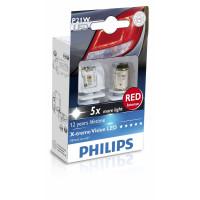 Светодиодная лампа Philips X-tremeVision P21W  12898 RX2