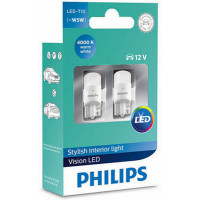 Лампа светодиодная Philips W5W 4000K   11961ULW4X2