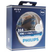 Лампа галогенная PHILIPS RacingVision +150% H4 12V 55W (P43t-38), 2 шт.  12342RVS2
