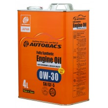 Масло моторное AUTOBACS Fully Synthetic 0W-30 SN/GF-5   4л.
