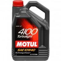 Моторное масло MOTUL 4100 Turbolight 10W-40, полусинтетическое, 4л  100355