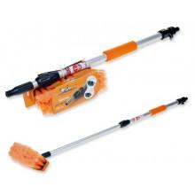 Швабра с насадкой для шланга, щеткой 20 см и телескопической ручкой 100 см AB-H-04