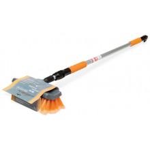 Швабра с насадкой для шланга, щеткой 25 см и телескопической ручкой 200 см AB-H-01 05