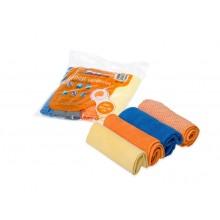 Набор салфеток из микрофибры в рулончиках 4 шт. 30х30 см. AB-V-03