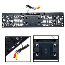 Камера заднего вида в номерной рамке с инфокрасной подсветкой SY-041