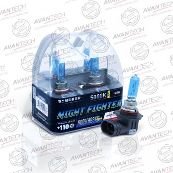 Лампа Avantech NIGHT FIGHTER 9005 (HB3) 12V 65W (120W) 5000K  2шт AB5005