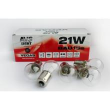 Лампа AVS  12V  P21W (BAU15S) смещ. штифт  A78338S