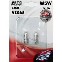 Лампа AVS Vegas в блистере 12V. W5W A78478S