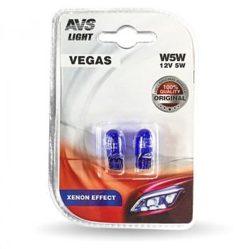 Лампа AVS Vegas 12V W5W XENON EFFECT W2,1x9,5d