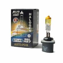 Галогенная лампа AVS ATLAS ANTI-FOG BOX желтый H27/880 12V.27W