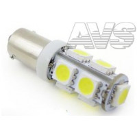 Светодиодные лампы AVS T8 B009 /белый/ (BA9S) 9SMD 5050, блистер, 2 шт A80643S