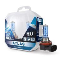 Лампа галогенная AVS ATLAS 5000К H11 12V 55W Plastic box 2шт A78906S