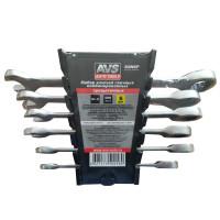 Набор ключей гаечных комбинированных трещоточных в пластике (8-17 мм) (6 предметов) AVS K6N6P