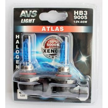 Лампа галогенная AVS ATLAS HB3/9005 5000K 12V 65W 2шт. A78572S