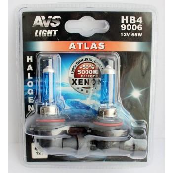 Лампа галогенная AVS ATLAS HB4/9006 5000K 12V 55W 2шт. A78573S