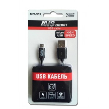 Кабель micro USB (1 м) AVS MR-301 (блистер) A78606S