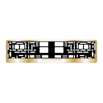 Рамка под номерной знак AVS хром (золото) RN-13