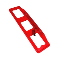 Рамка для номера с верхней подсветкой красная АВ009К