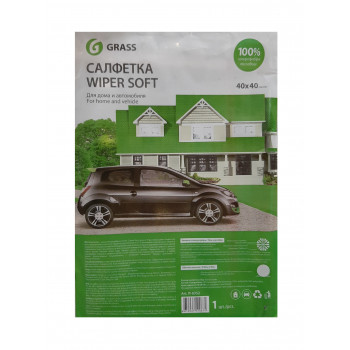 Салфетка GRASS WIPER SOFT 100% микрофибра 40*40  IT-0352
