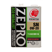 Масло моторное IDEMITSU ZEPRO ECO MEDALIST  4л. 0W-20 SN/GF-5